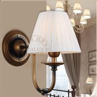 2014 New European Vintage style wall light modern light iron+fabric craft E27