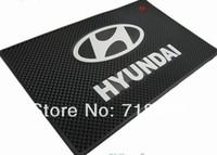 Hyundai IX35 Elantra I30 Sonata Verna solaris H1 Santafe car Logo latex non-slip Mat