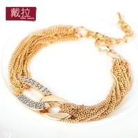 fashion Bracelet women's multi-layer chain decoration 14k gold alloy accessories TB004