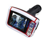 "Hot Wireless 1.8"" LCD Car MP3 MP4 Video Player FM Transmitter Support SD MMC TF Card USB Flash Disk + Remote control 1418"