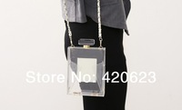 2014 New Design Luxury Perfume Bottle Resin Clutch Handbag Cross-body Shoulder Evening Bag 2 Colors Free Shipping