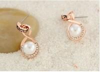New classical fashion  earbob smooth pearls eardrop joker earrings