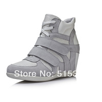 Women's Casual Increasing Heel  Leather Fashion Sneakers
