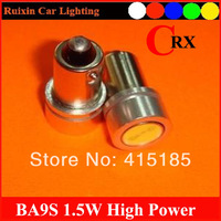 10pcs/lot car led lamp BA9s 12V 1.5W white LED SMD Car Interior Lamp Automobile Bulbs Car Lights Wedge Indicator Light