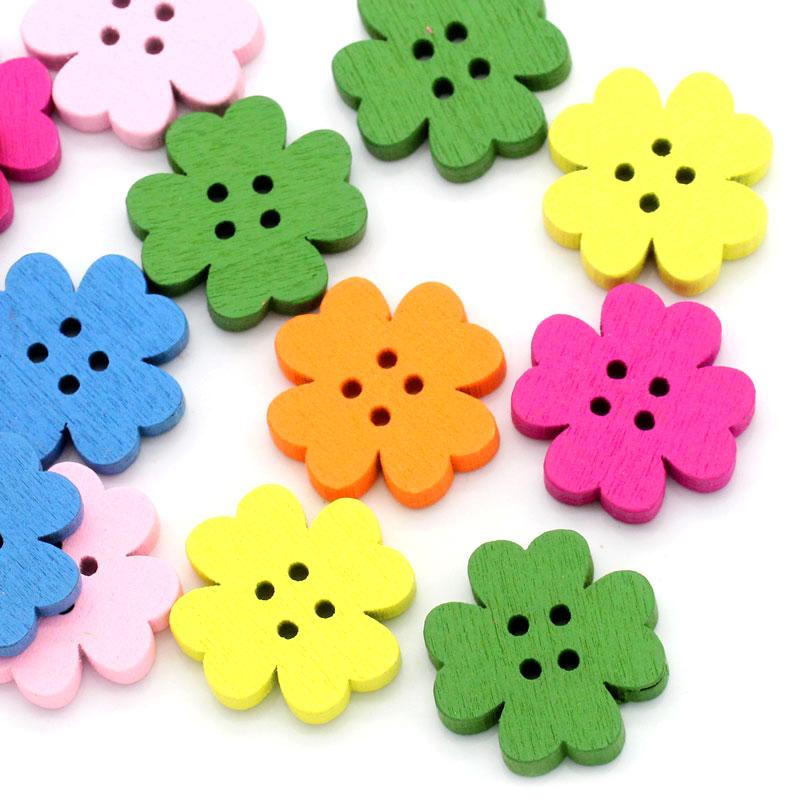 Scrapbooking 4holes Flower