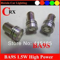 100pcs/lot car led lamp BA9s 12V 1.5W white LED SMD Car Interior Lamp Automobile Bulbs Car Lights Wedge Indicator Light