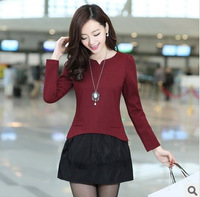 Spring 2014 new Korea fashion dresses women personality fake pocket joker render dress for ladies LG1029