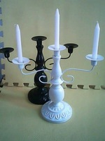 Free shipping Iron candle holder wedding candlestick white bronze black candle stand