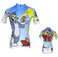Hot Sale! 2014 New Summer Women Cycling Bike Bicycle Short Sleeve Jersey Jerseys  Wear - Tom and Jerry XS~XXXL