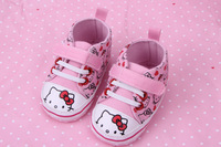 2014 new baby shoes cute cartoon hello kitty pink shoes bebe First Walker Soft sole infants children shoes free shipping