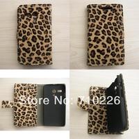 For Motorola MOTO G Leopard Design Card slot Holder PU Leather Flip Case
