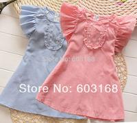 2014  Summer Cotton Baby Children's Princess Dresses/Children / Girl's Dresses (6Pcs/Lot){iso-14-3-20-A7}