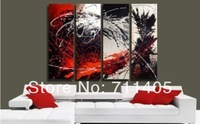 3 Size Free shipping/hand-painted  abstract  oil painting on canvas 4pcs/A-390