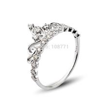 Fashin jewelry 2014 new Sterling Silver Jewelry Crown Ring 925 sterling Silver Ring for women Wedding Ring GNJ0537