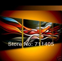 3 Size Free shipping/hand-painted   abstract Landscape oil painting on canvas 4pcs/A-387