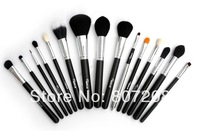 Big sale! Sixplus Professional 15 Pcs Black Makeup Brushes Set Brand Cosmetic Kits without bag Wholesale