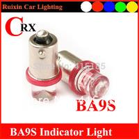 Free shipping 500pcs/lot  BA9S concave 1 LED 12V Car LED Bulb Dashboard light  instrument bulb White/Blue/Yellow/Red Light