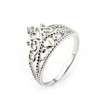 fashion jewelry new 2014 925 silver ring crown 925 sterling Silver Ring 925 crown ring for women  GNJ0539