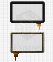 "Touch screen for China-Tablet PC 10,1"" Tablet, (black, capacitive, 12 pin, (257*159 mm)) #WJ-DR10011 V2.0"