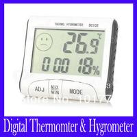 Free shipping DC102 LCD Digital Thermomter & Hygrometer ,10pcs/lot