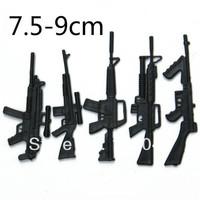 Free EMS shipping Wholesale Action War Soldier Figure's PVC Weapon Gun 1000pcs/lot Classic Toys for Children