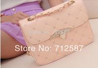 Free Shipping Hot sell evening bag Peach Heart bag women leather handbags Chain Shoulder Bag women messenger bag