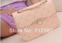 Free Shipping Hot sell evening bag Peach Heart bag women leather handbags Chain Shoulder Bag women messenger bag#B015