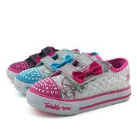 SKC cage female children shoes flash shoes canvas shoes