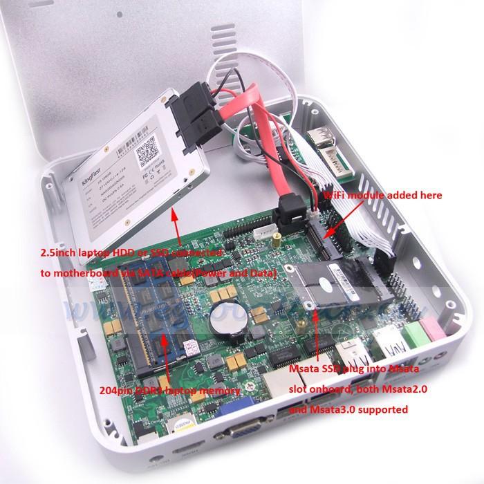 32GB SSD 2GB DDR3 RAM Mini PC Desktop Computer Linux OS with 1 HDMI, 2 RJ45, 2 USB3.0 Port Inbuilt Wireless Network Card(China (Mainland))