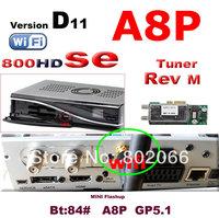 2014 free shipping new arrival  Rev D11 sunray 800se a8p wifi satellite receiver dm 800se  wifi  Ex USB Rev M tuner