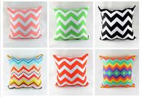 45 *45 CM Comfortable Colorful Chevron Zig Zag Peach Skin Fabric Throw Cushion Cover in 12 Beautiful Colors