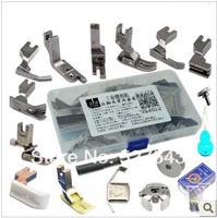 Free shipping industrial flat sewing machine presser feet set, 17pcs/box