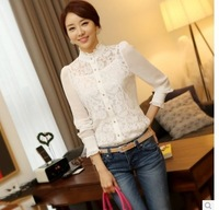 New! ! ! Explosion models! ! !2014  women's  Spring Korean  Profession fashion Slim lace  casual shirts