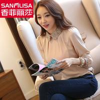 New! ! ! Explosion models! ! ! 2014 women's   Spring   Korean Fashion Slim yards chiffon shirt