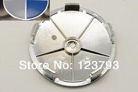 x100 Blue/White 68mm Wheel Center Hub Caps emblem for car wheel rim