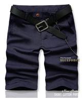 2014 Bermuda Shorts Cargo for Men Bermuda Cotton Casual Loose Cargo Pockets Beach Shorts men Fashion Sport Shorts 9 colors