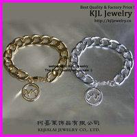 10pcs Latest fashion Gold Silver Michae Link Chunky chain bracelet, Alloy charm bracelet