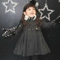 Children's clothing female child autumn and winter female 2011 child woolen overcoat child outerwear sweatshirt