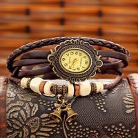 Free Shipping Wholesale Dropship 2014 Hot Sale reloj de pulso Fashion Watch Vintage Leather Quartz Watches