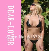 perfect quality &ladies sex thong bikini Wholesale jeweled g-string bikini set LC40303 bathing suit for women