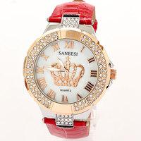 Reloj Watches Woman 2014 New Brands Rhinestone Bracelet Dress Watch Crown Famous Free Shipping