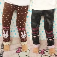 Thickening cotton wool thread child legging pants boot cut jeans skinny pants children's clothing female child autumn and winter