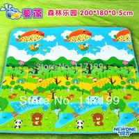 New Arrival Quality Large Baby Play Mat200*180CM Forest Park Kids Children Beach Mat Picnic Carpet Baby Crawling Mat CM-010