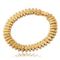 2014 New Real 18K Gold Plated GP Chain Chunky Bracelet  For Men/ Women Good Quality Anti-Allergy 18.5CM 10MM MGC H5190
