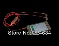 Free Shipping! 5PCS X Light LED Flashing Headset Wired Earphone for iphone