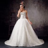 Romantic heart tube top train fashion wedding dress white bow decoration elegant princess 2013