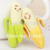 Creative Fruit Stationery Rubber eraser  lovely  banana eraser student award free shipping