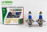 XENCN H4 P43t 4800K 12V 60/55W Gold Diamond Light Car Headlights Bulbs UV Filter Lamp Kia Halogen High Low Beam Long Lifetime