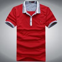 2013 Crocodlle summer new men's solid color T-shirt lapel fight XL
