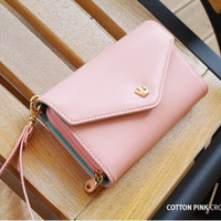 Hot Selling New envelope wallet bag case , Purse zip handbag for iphone4 for iphone 4 5 4s travel necessaries discount
